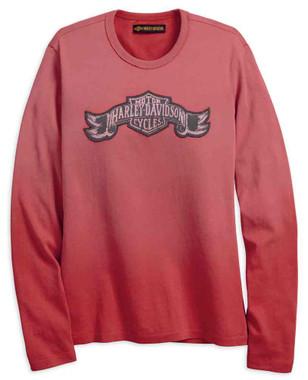 Harley-Davidson Women's Jersey Applique Long Sleeve Shirt, Rose 99100-18VW - Wisconsin Harley-Davidson