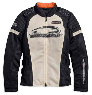 Harley-Davidson Women's Screamin' Eagle Mesh Riding Jacket, Stone 98166-18VW - Wisconsin Harley-Davidson