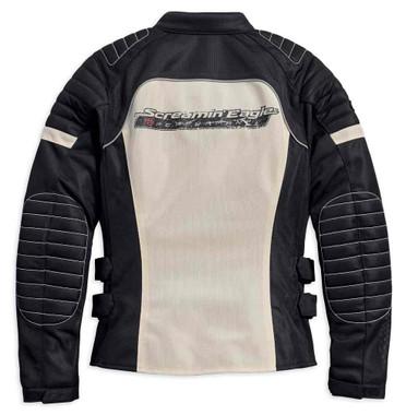 Harley-Davidson Women's Screamin' Eagle Mesh Riding Jacket, Stone 98166-18VW - Wisconsin Harley-Davidson