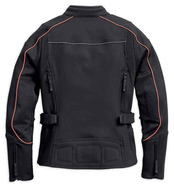 Harley-Davidson Women's Fennimore Stretch Riding Jacket, Black 98162-18VW - Wisconsin Harley-Davidson