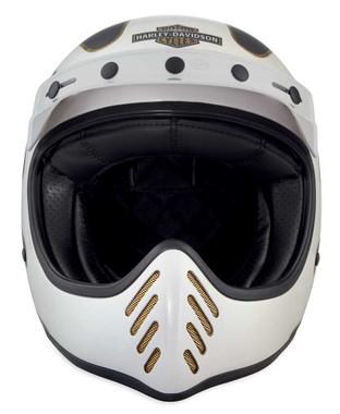 Harley-Davidson Men's Garage Stinger B14 Full-Face Helmet, White 98198-18VX - Wisconsin Harley-Davidson