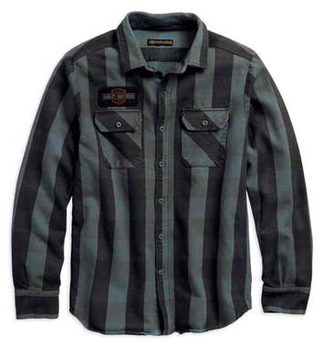 Harley-Davidson Men's Eagle Plaid Slim Fit Long Sleeve Woven Shirt 99095-18VM - Wisconsin Harley-Davidson