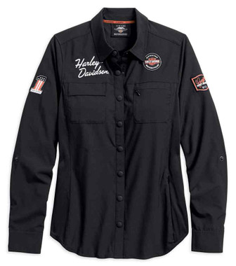 Harley-Davidson Womens Performance Fast Dry Vented Classic Shirt 99076-18VW - Wisconsin Harley-Davidson