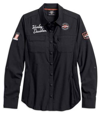Harley-Davidson Womens Performance Fast Dry Vented Classic Shirt 99076-18VW - Wisconsin Harley-Davidson