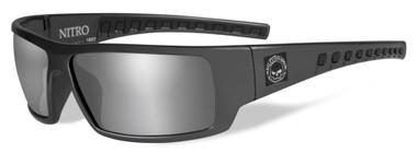Harley-Davidson Men's Nitro Silver Flash Sunglasses, Shiny Gray Frames HANTR02 - Wisconsin Harley-Davidson