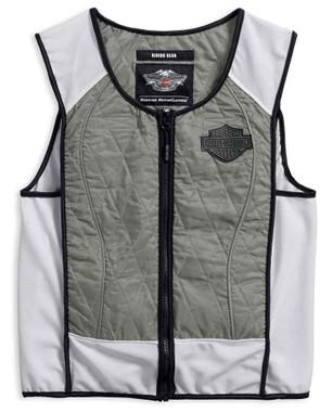 Harley-Davidson Men's Dual Cool Cooling Vest & Cooling Kit, Gray 98186-17VM - Wisconsin Harley-Davidson