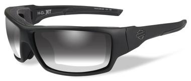 Harley-Davidson Men's Jet LA Light Sunglasses, Gray Lens / Black Frames HDJET05 - Wisconsin Harley-Davidson