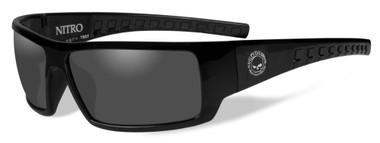 Harley-Davidson Men's Nitro Sunglasses, Smoke Lenses/Gloss Black Frames HANTR01 - Wisconsin Harley-Davidson