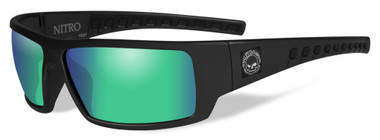 Harley-Davidson Men's Nitro Sunglasses, Green Mirror Lens / Black Frame HANTR10 - Wisconsin Harley-Davidson