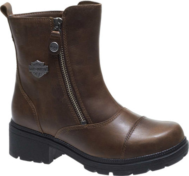Harley-Davidson Women's Amherst 5.5-Inch Leather Motorcycle Boots D84236 D84237 - Wisconsin Harley-Davidson