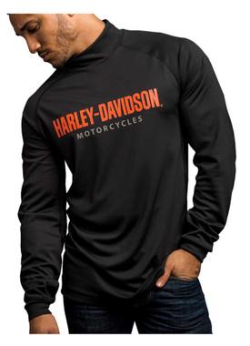Harley-Davidson Men's Turn To Victory Performance Mock Neck Shirt 5P34-HB4L - Wisconsin Harley-Davidson