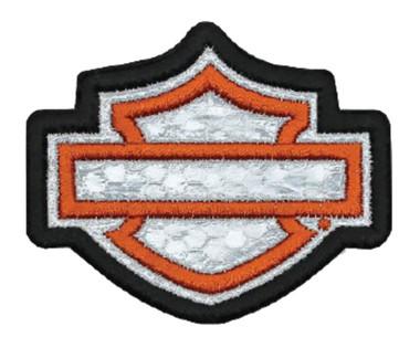 Harley-Davidson Embroidered Reflective Blank B&S Emblem Patch, XS Size EM1144381 - Wisconsin Harley-Davidson