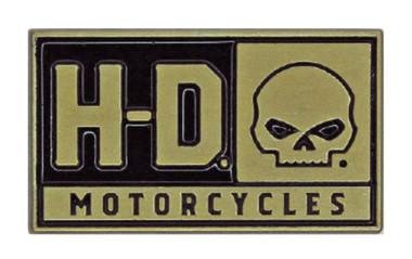 Harley-Davidson 2D Die Cast H-D Willie G Skull Pin, Brushed Gold Finish P043262 - Wisconsin Harley-Davidson