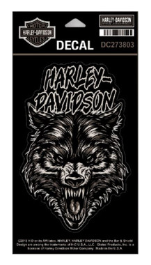 Harley-Davidson Night Wolf Matte Decal, MD Size - 4 x 6 inches DC273803 - Wisconsin Harley-Davidson