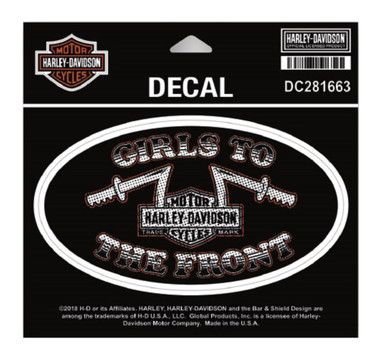 Harley-Davidson Girls To The Front Decal, MD Size - 5.5 x 3 inches DC281663 - Wisconsin Harley-Davidson