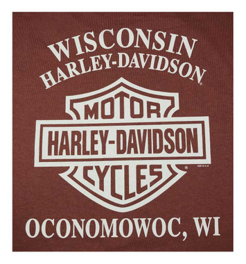 Harley-Davidson Men's Concrete Frontier Long Sleeve Crew Neck Shirt 5L36-HF23 - Wisconsin Harley-Davidson
