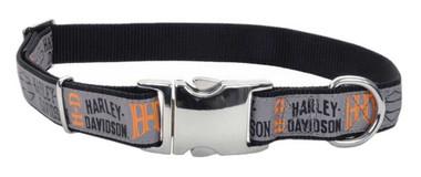 Harley-Davidson 1 in. Adjustable Ribbon Pet Collar - Large 26 in. H6971HHLG26 - Wisconsin Harley-Davidson