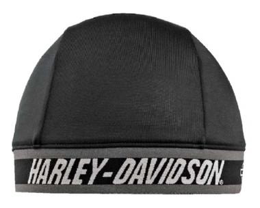 Harley-Davidson Men's H-D Script B&S Logo Skull Cap, Black & Gray SK51690 - Wisconsin Harley-Davidson