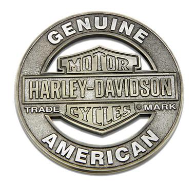 Harley-Davidson Trademark Cutout B&S Heavy-Duty Metal Magnet, 3 in. 8008543 - Wisconsin Harley-Davidson