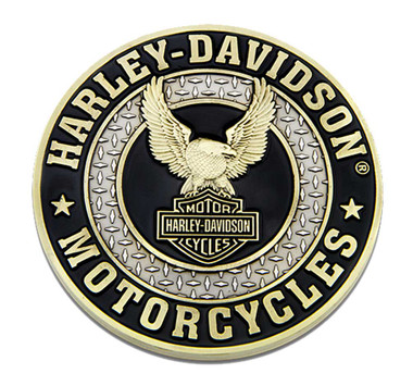 Harley-Davidson Up-Winged Eagle B&S Heavy-Duty Metal Magnet, 3 in. 8008567 - Wisconsin Harley-Davidson