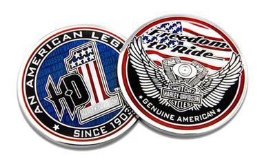 Harley-Davidson American Legend #1 Challenge Coin, 1.75 in Coin 8008482 - Wisconsin Harley-Davidson