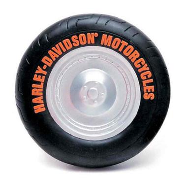 Harley-Davidson Vinyl Tire Squeaker Dog Toy - 5 inch, Black H8200 H V01DOG - Wisconsin Harley-Davidson