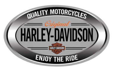 Harley-Davidson Enjoy Ride Oval Embossed Tin Sign, 18 x 10.5 inches 2011591 - Wisconsin Harley-Davidson