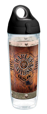 Harley-Davidson Burnt Wood Rivets Water Bottle w/ Black Lid, 24 oz. 1287286 - Wisconsin Harley-Davidson