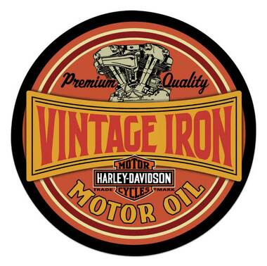 Harley-Davidson Vintage Iron Bar & Shield Embossed Tin Sign, 14 inch 2011491 - Wisconsin Harley-Davidson