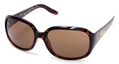 Harley-Davidson Womens Bling Accented Script Sunglasses Dark Havana & Brown Lens - Wisconsin Harley-Davidson