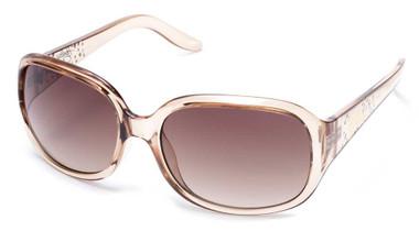 Harley-Davidson Women's Accented Script Sunglasses, Crystal Beige & Brown Lens - Wisconsin Harley-Davidson