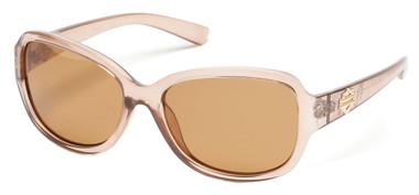 Harley-Davidson Women's Bling B&S Sunglasses, Crystal Beige Frame & Brown Lens - Wisconsin Harley-Davidson