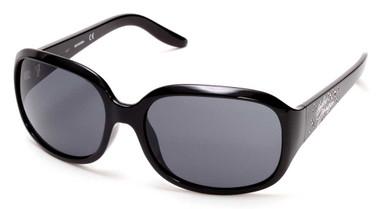 Harley-Davidson Womens Bling Accented Script Sunglasses Black Frame & Smoke Lens - Wisconsin Harley-Davidson