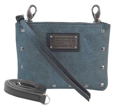 Harley-Davidson Women's Blue Stonewashed Leather Hip Bag w/ Strap SD2549L-DEN - Wisconsin Harley-Davidson