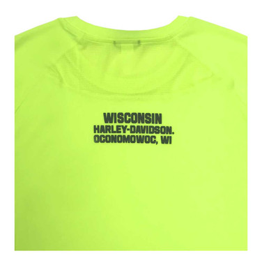 Harley-Davidson Men's Cryptic Collapse Performance Wicking Tee, Yellow 5M0B-HD2Y - Wisconsin Harley-Davidson