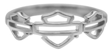 Harley-Davidson Womens Multiple Outline Bar & Shield Ring, Silver Finish HDR0474 - Wisconsin Harley-Davidson