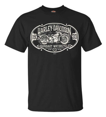 Harley-Davidson Men's High Road 1903 Short Sleeve Crew-Neck T-Shirt, Black - Wisconsin Harley-Davidson