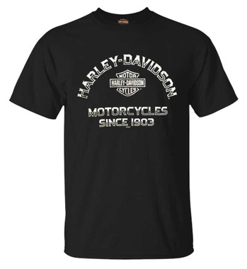 Harley-Davidson Men's Remarkable B&S Short Sleeve Crew-Neck T-Shirt, Black - Wisconsin Harley-Davidson