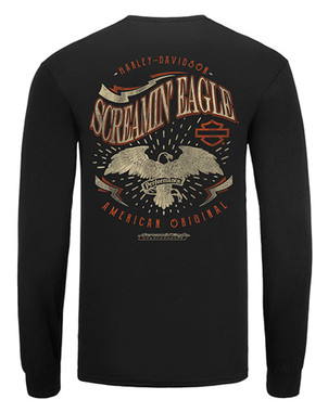Harley-Davidson Men's Screamin' Eagle Lucky Eagle Long Sleeve Shirt HARLMT0280 - Wisconsin Harley-Davidson