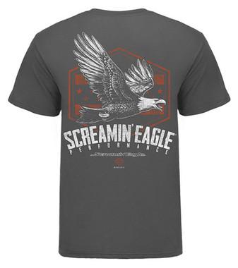 Harley-Davidson Men's Screamin' Eagle Soaring Short Sleeve Tee, Gray HARLMT0277 - Wisconsin Harley-Davidson