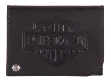 Harley-Davidson Men's B&S Classic Card Holder Leather RFID Wallet HDMWA11485 - Wisconsin Harley-Davidson