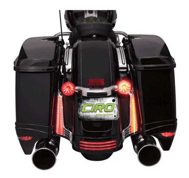 Ciro Filler Panel LED Lights, Fits '06-'09 Street Glide FLHX, Chrome or Black - Wisconsin Harley-Davidson