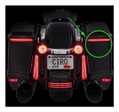 Ciro Bag Blades Red LED Lights Fits '10-'13 Harley Touring Models, All Red 40039 - Wisconsin Harley-Davidson