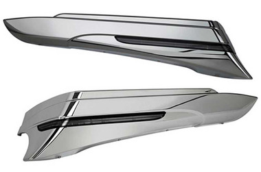 Ciro Saddlebag Extensions (Pair), Fits '10-13 Harley Touring - Chrome or Black - Wisconsin Harley-Davidson