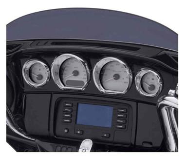 Harley-Davidson Gauge Trim Kit, Multi-Fit Item - Chrome Finish 61400451 - Wisconsin Harley-Davidson
