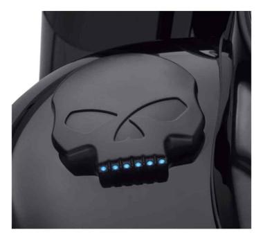 Harley-Davidson Willie G Skull LED Fuel Gauge, Multi-Fit Item - Black 70900781 - Wisconsin Harley-Davidson