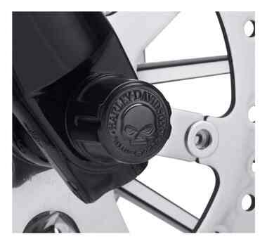 Harley-Davidson Willie G Skull Front Axle Nut Covers, Multi-Fit Item 43000096 - Wisconsin Harley-Davidson
