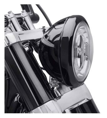 Harley-Davidson 7 in. Headlamp Trim Ring, Multi-Fit Item - Gloss Black 61400573 - Wisconsin Harley-Davidson