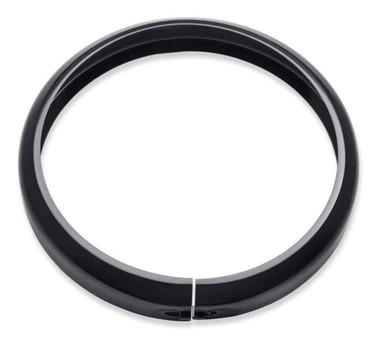 Harley-Davidson 7 in. Headlamp Trim Ring, Multi-Fit Item - Gloss Black 61400573 - Wisconsin Harley-Davidson