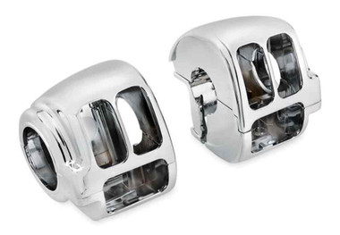 Harley-Davidson Switch Housing Kit, Multi-Fit Items - Chrome Finish 70222-96B - Wisconsin Harley-Davidson